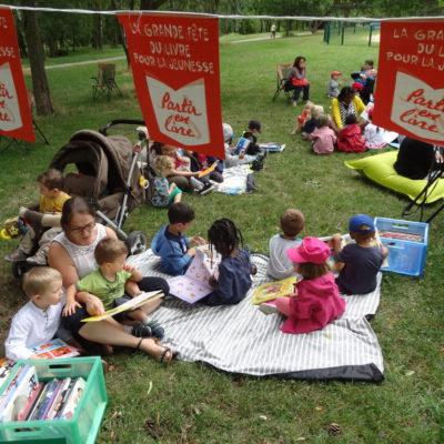 mediatheque lecture au parc